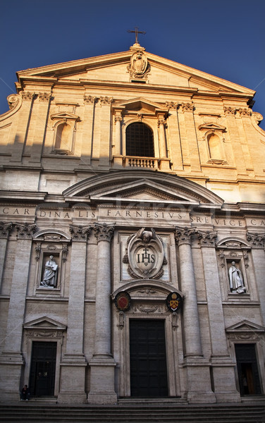 Gesu Jesuit Church Facade Rome Italy Stock photo © billperry