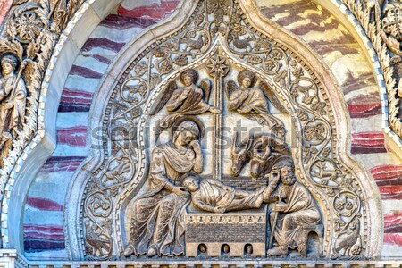 Papal Symbol Statues Vatican Museum Map Room Rome Italy Stock photo © billperry
