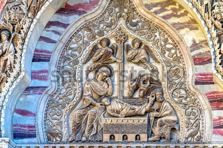 Szimbólum Vatikán múzeum térkép szoba Róma Stock fotó © billperry