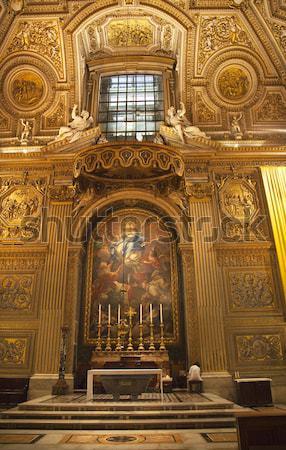 Bazilika kubbe bebek heykel İsa Stok fotoğraf © billperry
