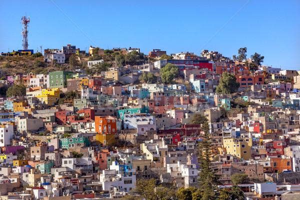 Stock photo: Many Colored Houses Guanajuato Mexico