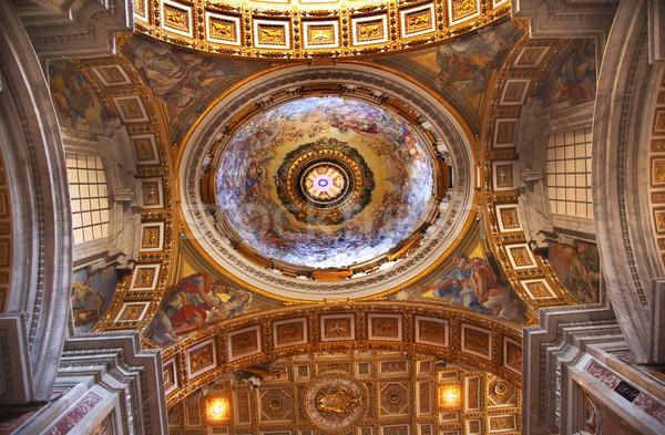 Ватикан внутри красивой потолок купол Рим Сток-фото © billperry