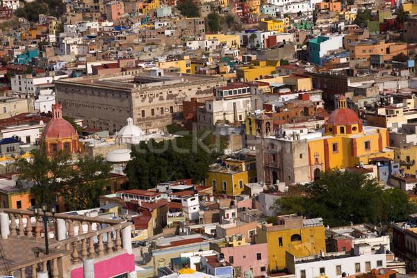 Colorato case chiese fort Messico Foto d'archivio © billperry