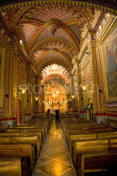 Iglesia interior barroco hermosa México Foto stock © billperry