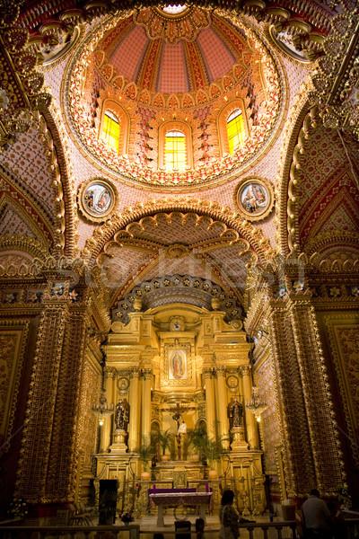 Kościoła wnętrza ołtarz kopuła Meksyk Zdjęcia stock © billperry