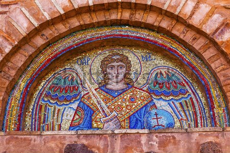 Aziz vitray katedral Budapeşte Macaristan Hristiyan Stok fotoğraf © billperry