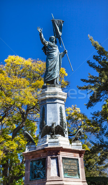 Father Miguel Hidalgo Statue Outside Parroquia Cathedral Dolores Stock photo © billperry