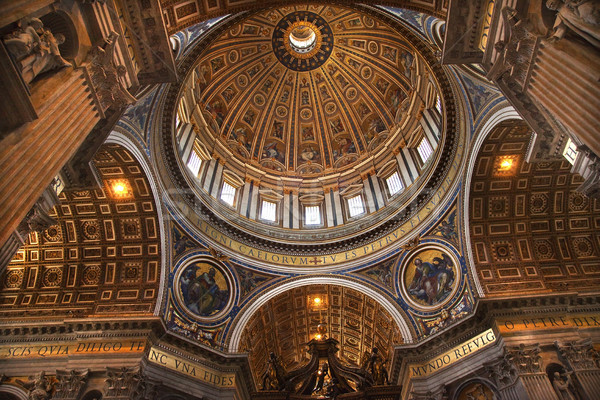 Vatican Inside Michaelangelo's Dome Rome Italy Overview Stock photo © billperry