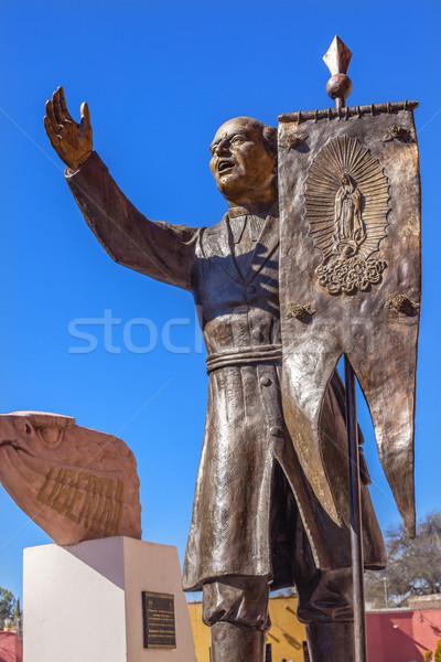 Hidalgo Statue Liberty Road Sanctuary of Jesus Atotonilco Mexico Stock photo © billperry