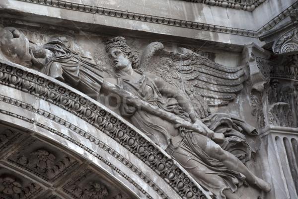 каменные ангела детали арки форуме Рим Сток-фото © billperry