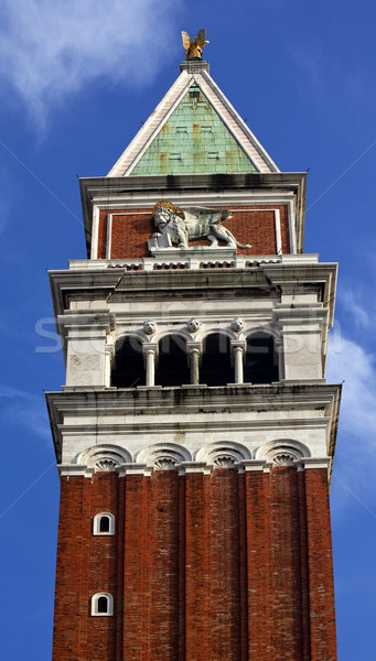 Campanile Bell Tower Saint Mark's Lion Venice Italy Stock photo © billperry