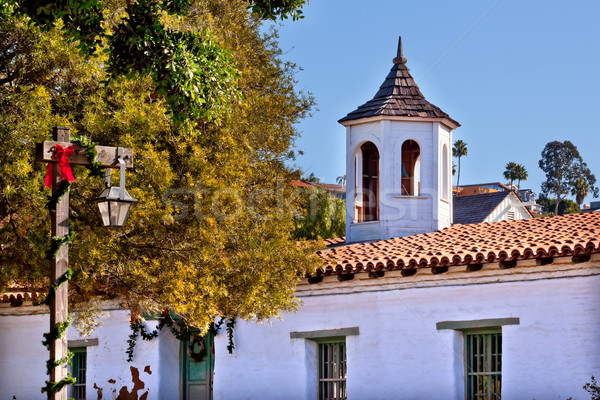 Casa de Estudillo Old San Diego Town Roof Cupola California  Stock photo © billperry
