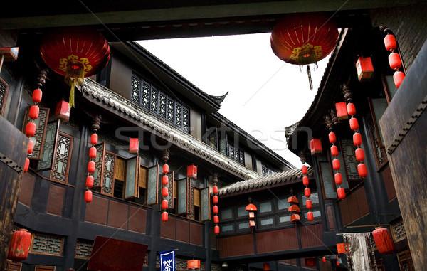 Ancient Jinli Street Chengdu Sichuan China Stock photo © billperry