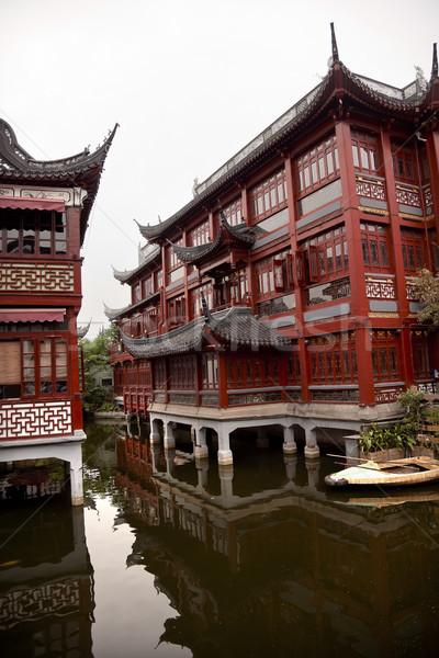 Old Shanghai Builings Yuyuan Garden Reflections China Stock photo © billperry