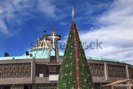 új bazilika szentély karácsony Mexikóváros engem Stock fotó © billperry