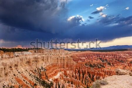 Rain Storm Amphitheater Hoodoos Bryce Point Bryce Canyon Nationa Stock photo © billperry