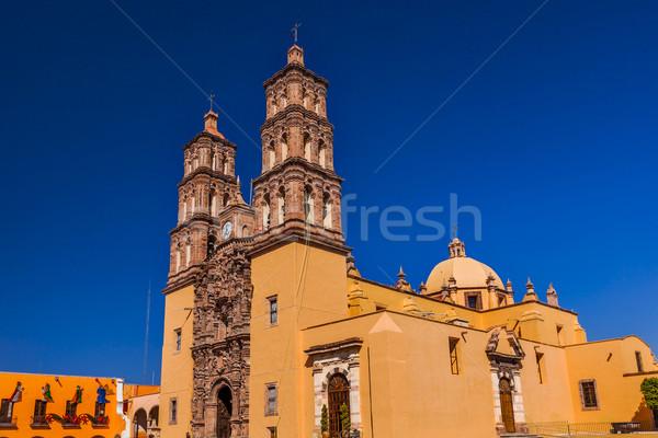 Christmas katedry Meksyk ojciec wojny budynku Zdjęcia stock © billperry