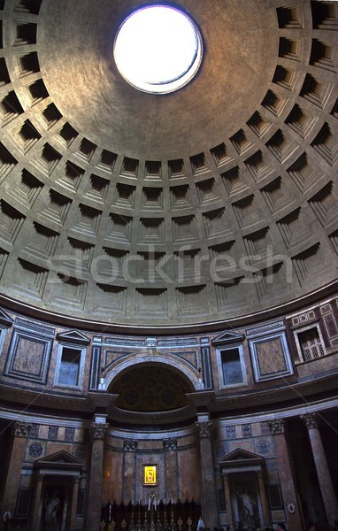 Pantheon Cupola Ceiling Hole  Rome Italy Stock photo © billperry