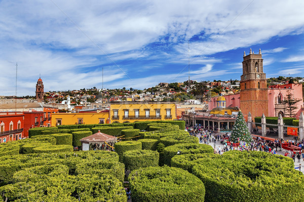 Parroquia Green Jardin Archangel Church San Miguel Mexico Stock photo © billperry