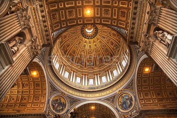 Ватикан внутри купол Рим Италия потолок Сток-фото © billperry