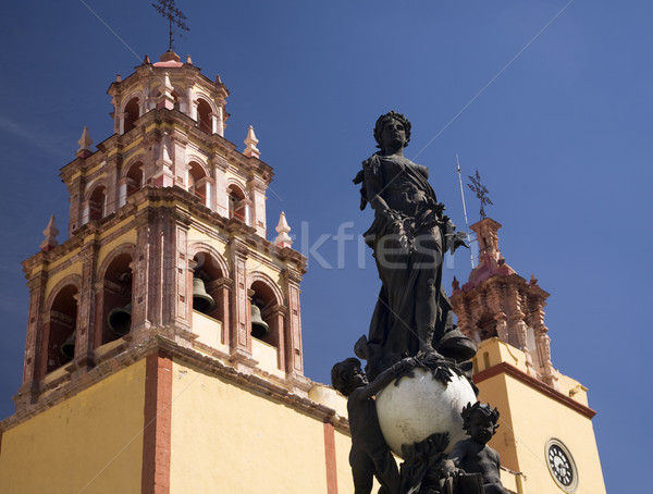 Peace Statue Basilica Guanajuato Mexico  Stock photo © billperry