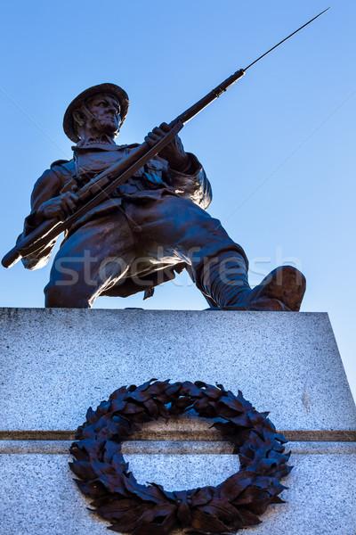 Canadian Soldier Statue Provincial Capital Legislative Buildiin Stock photo © billperry