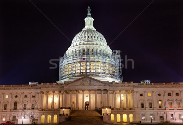 US Capitol Noth rSide Construction Night Stars Washington DC Stock photo © billperry