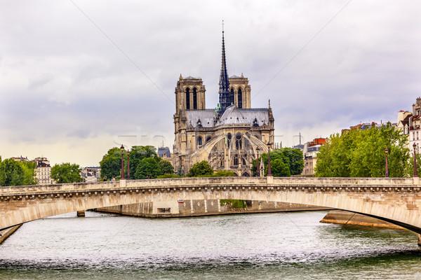 川 橋 ノートルダム大聖堂 パリ フランス ストックフォト © billperry
