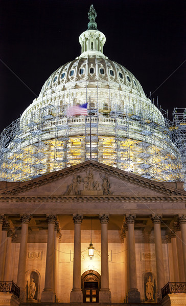 US Capitol North Side Construction Night Stars Washington DC Stock photo © billperry