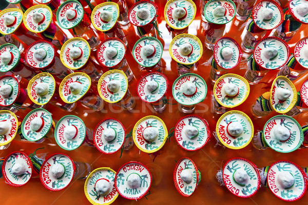 Colorful Mexican Souvenir Hats Shot Glasses Mexico City Mexico Stock photo © billperry