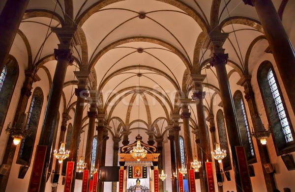 St. Joseph Church Wangfujing Cathedral Interior Basilica Beijing Stock photo © billperry