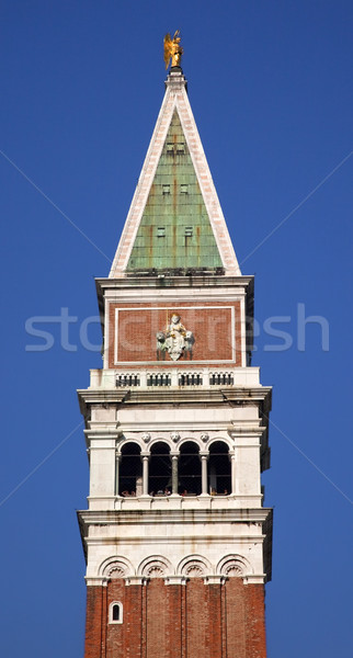 The Campanile Bell Tower Close Up Venice Italy Stock photo © billperry