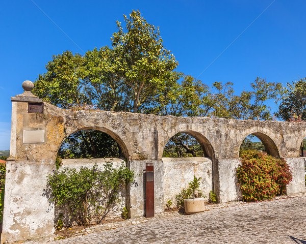 Ancient Usseira Aqueduct Obidos Portugal Stock photo © billperry