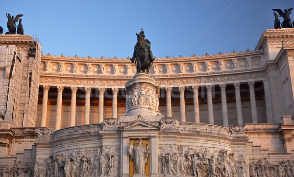 Vittorio Emanuele II Monument Front Facade Tomb of Unknown Soldi Stock photo © billperry