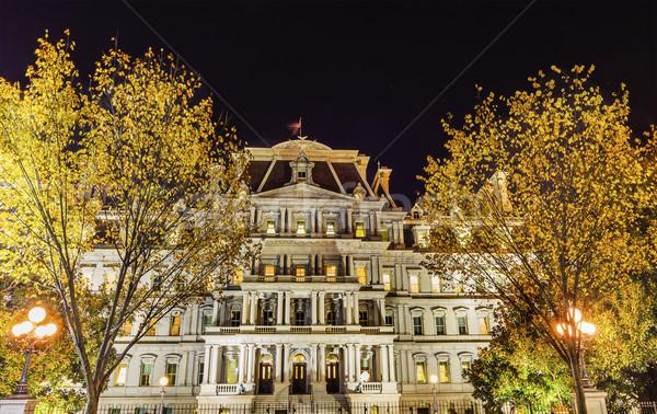 Old Executive Office Building Night Washington DC Stock photo © billperry