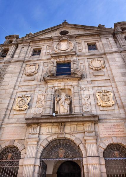 Convento de Santa Teresa Facade Swallows Avila Castile Spain Stock photo © billperry