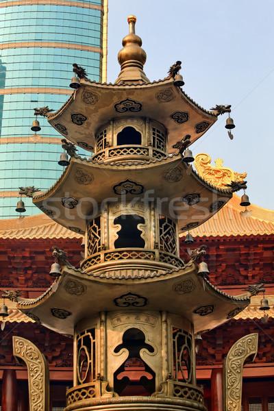 Grande incienso templo Shanghai China tranquilidad Foto stock © billperry