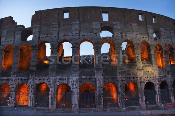Колизей вечер детали Рим Италия город Сток-фото © billperry