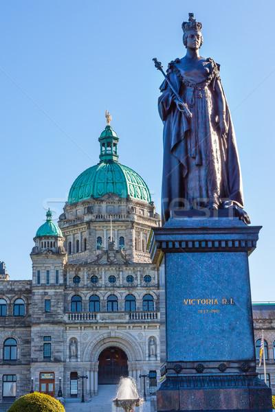 Provincial Capital Legislative Buildiing Queen Statue Victoria B Stock photo © billperry
