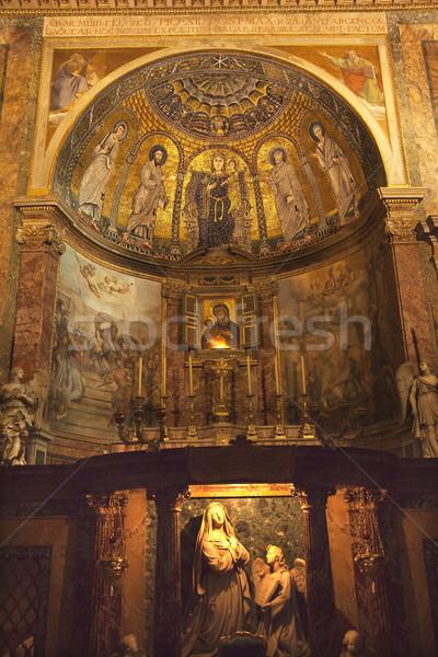 Statue basilique forum Rome mosaïque Photo stock © billperry