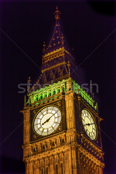Big Ben Tower Houses of Parliament Westminster London England Stock photo © billperry