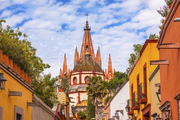 Ulicy kościoła kopuła Meksyk budynku architektury Zdjęcia stock © billperry