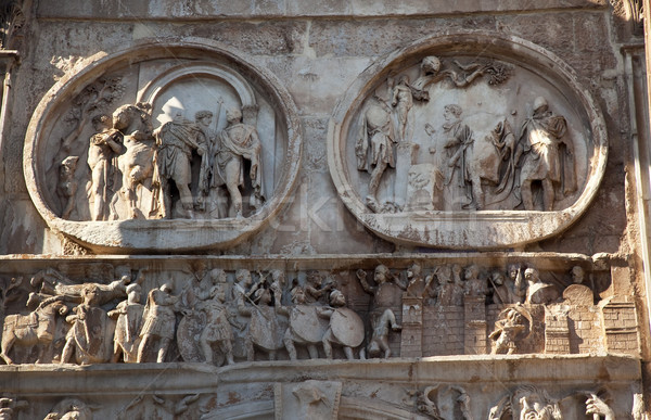 Details Arch of Constantine Rome Italy Stock photo © billperry