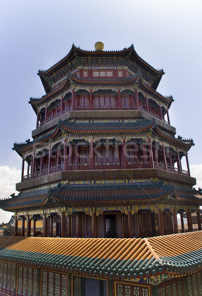 Longevity Hill Tower of the Fragrance of the Buddha Summer Palac Stock photo © billperry