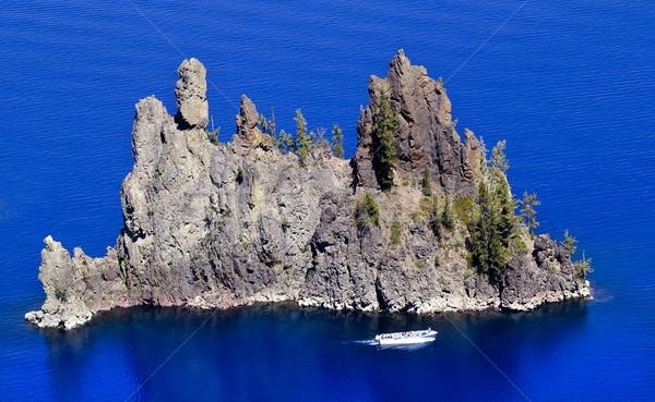 Fantom hajó sziget kék kráter tó Stock fotó © billperry