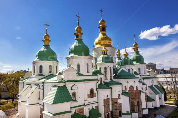 Saint Sophia Sofia Cathedral Spires Tower Sofiyskaya Square Kiev Stock photo © billperry