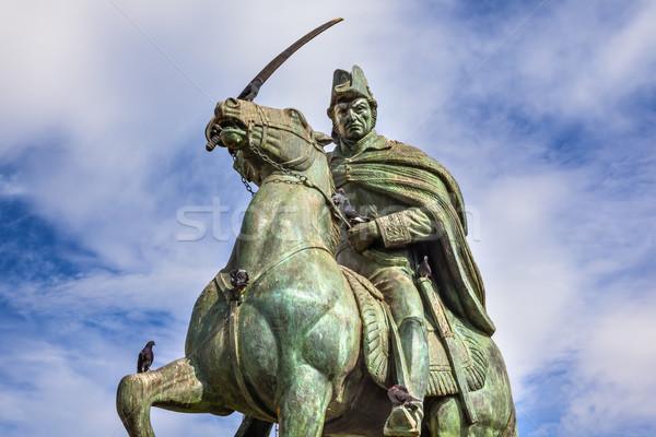 Algemeen standbeeld Mexico eerste opstand Spanje Stockfoto © billperry