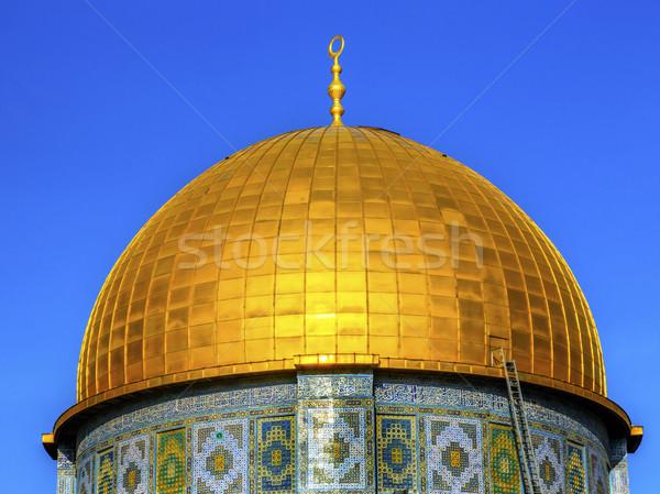 Kubbe kaya cami tapınak Kudüs Stok fotoğraf © billperry