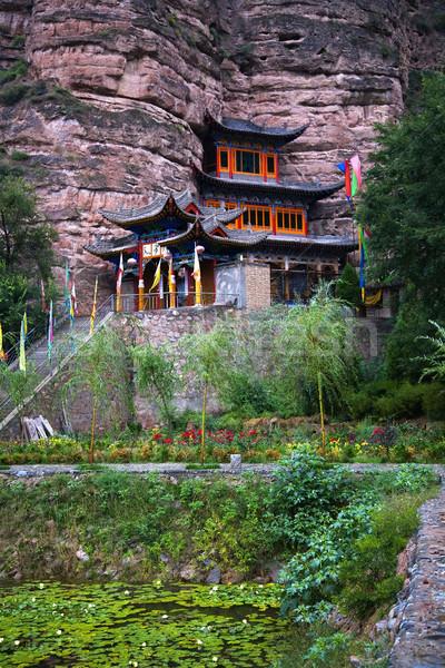 Lumineuses esprit bouddhique temple Chine jardin Photo stock © billperry