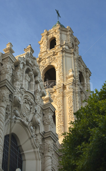 Stock photo: Front Ornate Steeple Mission Dolores San Francisco California